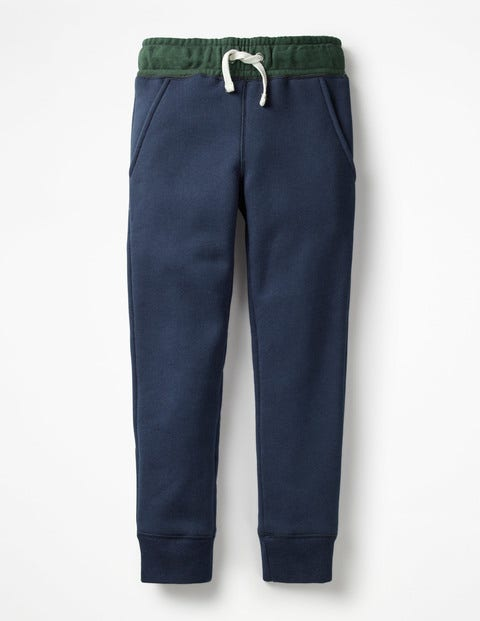 Shaggy-Lined Joggers - School Navy