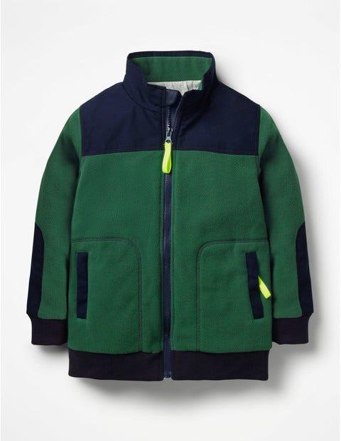 Fleece Zip-Through - Scots Pine Green