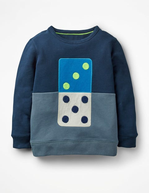 Domino Sweatshirt - School Navy Domino