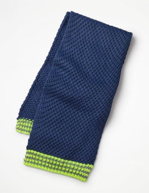Textured Scarf - Starboard Blue