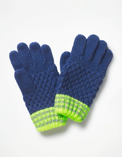 Textured Gloves - Starboard Blue