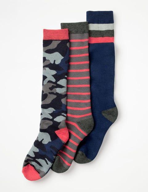 3 Pack Ski Socks - Multi
