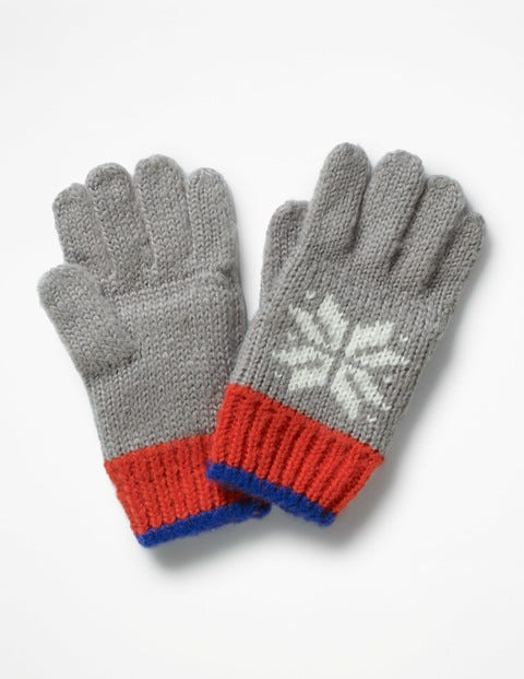 Fair Isle Gloves - Grey Marl