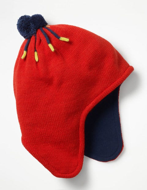 Fleece-Lined Hat - Post Box Red