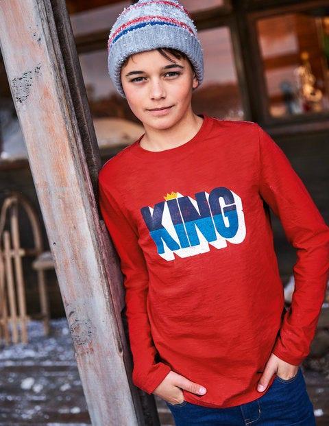 Printed Festive T-Shirt - Post Box Red King