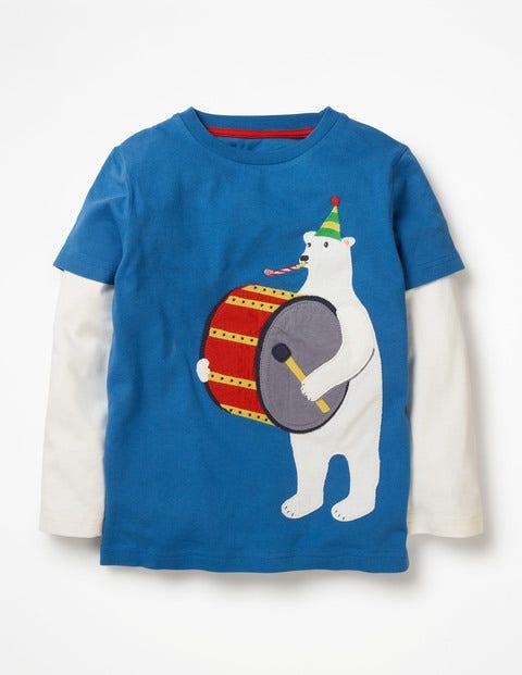 Party Animal T-Shirt - Daphne Blue Polar Bear