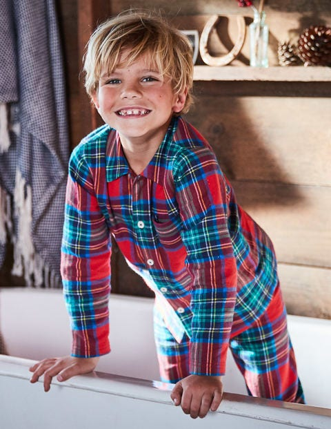 Woven Pyjama Set - Salsa Red Check