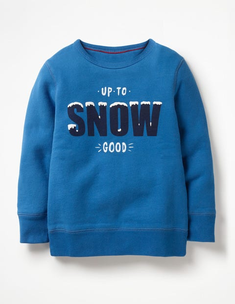 Festive Graphic Sweatshirt - Daphne Blue Up To Snow Good