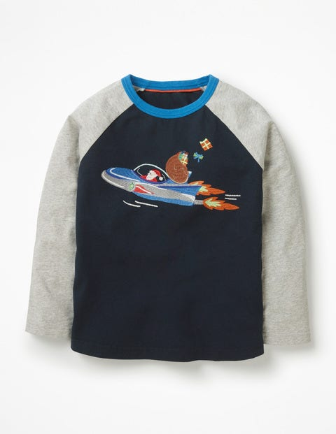 Festive Superstitch Raglan - Midnight Blue Space Santa