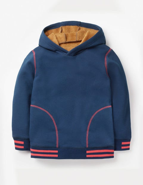 Cosy Popover Hoodie - College Blue