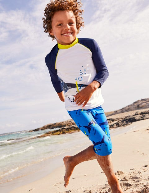 Surf Suit - Duke Blue Snorkelling Sharks