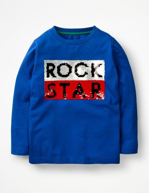 Superstar-T-Shirt Mit Pailletten - Orionblau, Rockstar