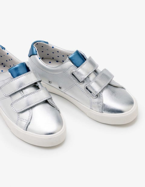 Fun Low Tops - Silver Metallic