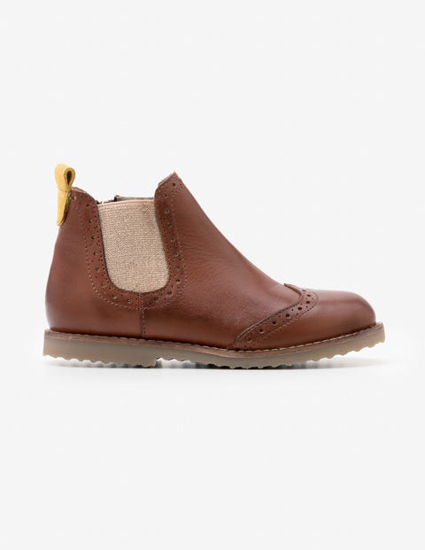 Leather Chelsea Boots - Tan