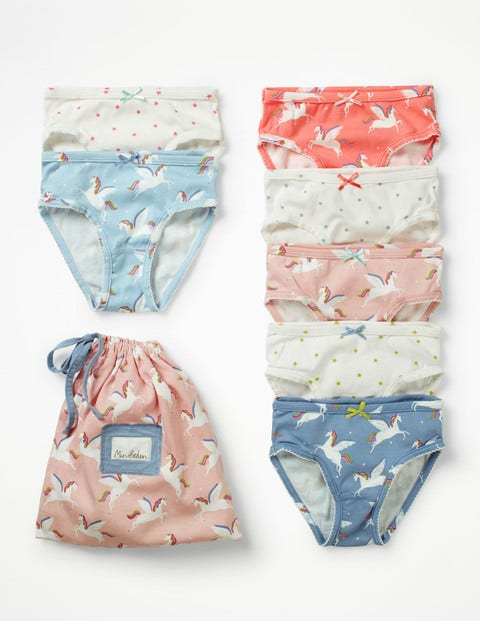 7 Pack Underwear - Rainbow Unicorns