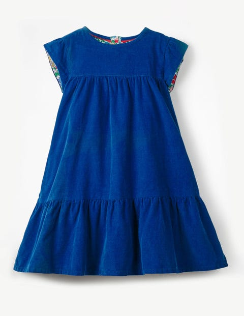 Pretty Cord Dress - Cobalt Blue