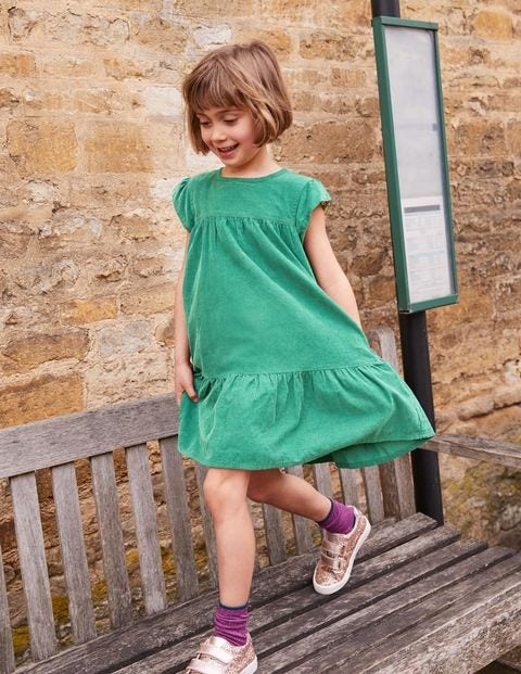Pretty Cord Dress - Jungle Green