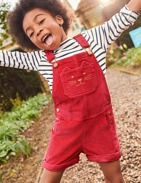 Short Dungarees - Poppy Red