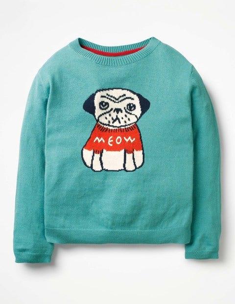Pullover mit lustigen Tieren