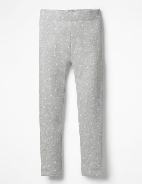 Fun Cosy Leggings - Grey Marl Ecru Stars