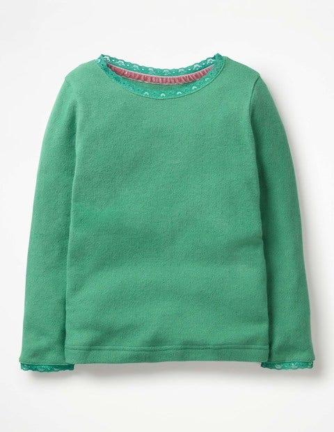 Supersoft Pointelle T-Shirt - Jungle Green