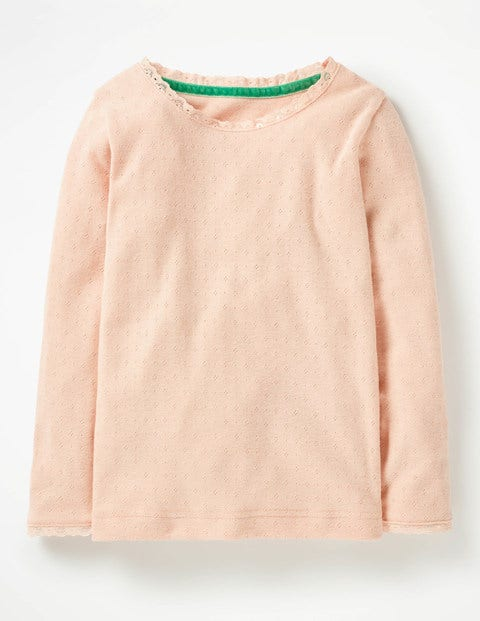 Supersoft Pointelle T-Shirt - Provence Dusty Pink