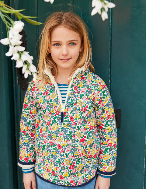 Reversible Half-Zip Sweatshirt - Multi Flowerbed