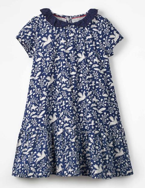 Short-Sleeved Jersey Dress - Prussian Blue Peculiar Pets