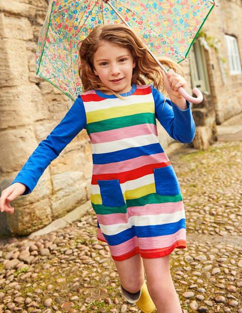 Stripy Jersey Dress - Rainbow Stripe