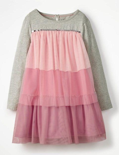 Jersey Tulle Dress - Rose Pink Ombré