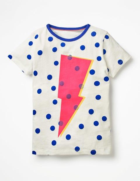 Colour Pop T-Shirt - Ecru Lightning