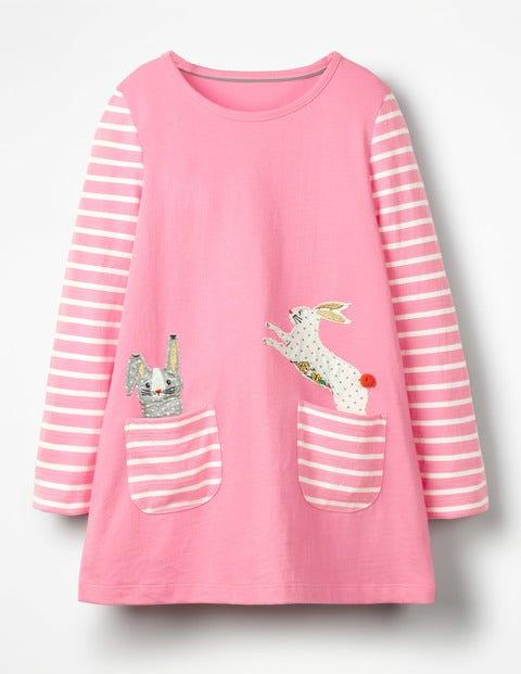 Tunika Tasche und Tiermotiv Pink Mädchen Boden, Pink pink |