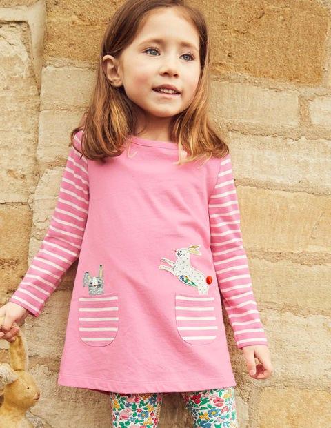 Animal Pocket Tunic - Formica Pink Bunny
