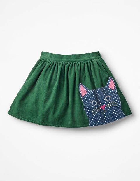 Rock Mit Tier-Applikation - Weidengrün, Katze