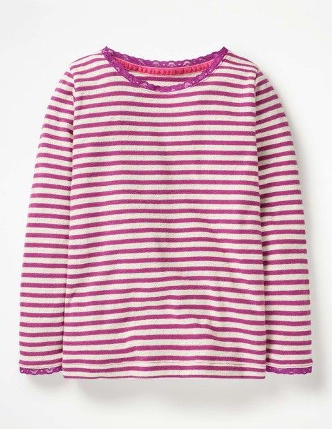 Sparkly Pointelle T-Shirt - Regal Purple/Gold