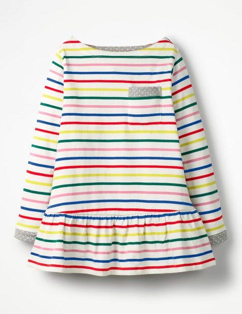 Gestreifte Tunika mit Taschen Multi Mädchen Boden, Multi bunt,mehrfarbig |