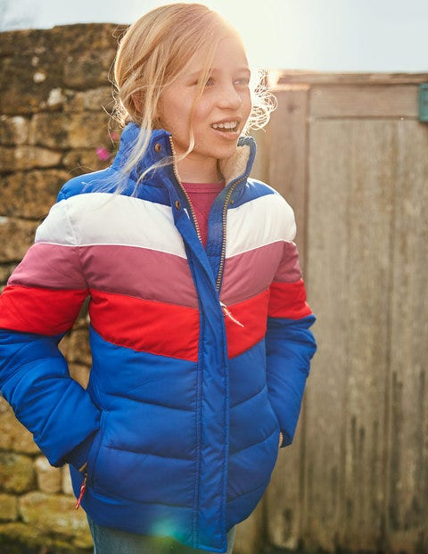 Cosy Padded Jacket - Cobalt Blue