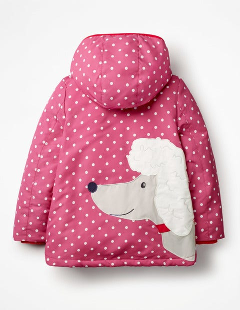 Novelty Sherpa-Lined Anorak - Rose Blossom Pink Poodle