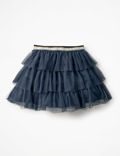 Tiered Tulle Skirt - School Navy