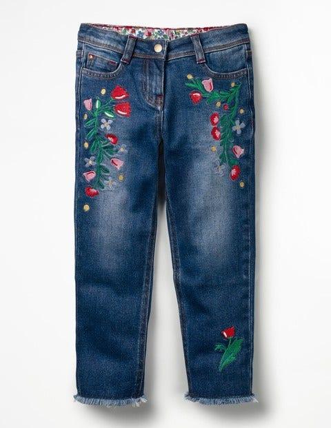 Boden Bestickte Jeans mit schmaler Passform Denim Mädchen Boden  |