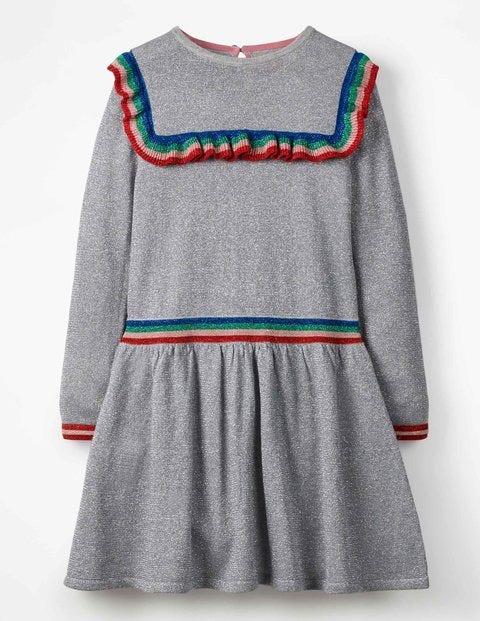 Sparkle Knitted Dress - Grey Marl Sparkle