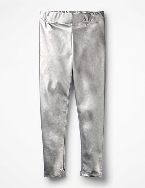 Shiny Leggings - Silver