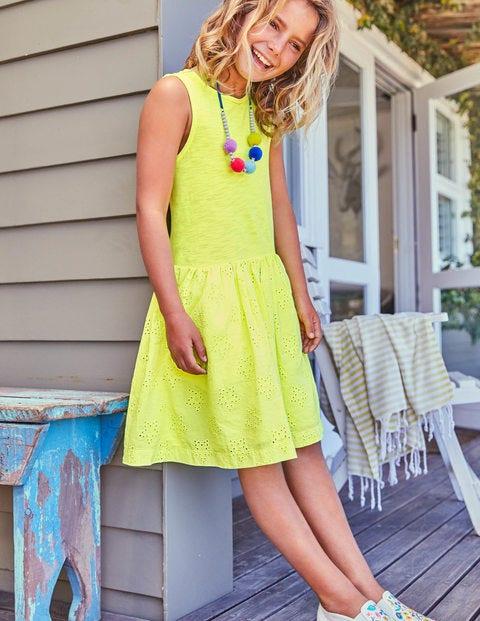Jersey Woven Dress - Acid Yellow
