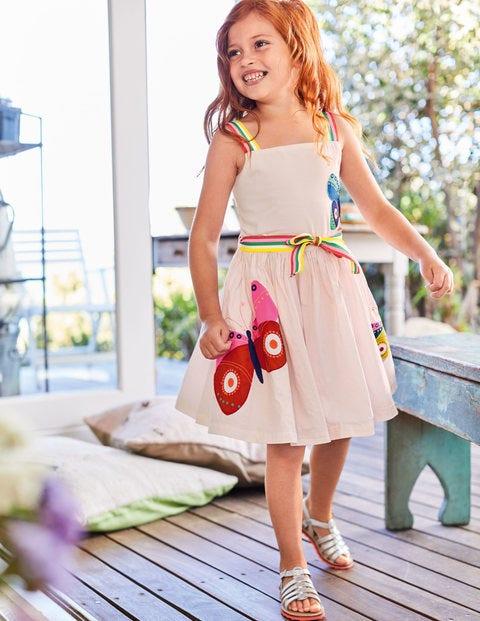 Bright Appliqué Dress - Pink Mist Butterflies