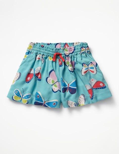 Pretty Woven Culottes - Papillons bleus