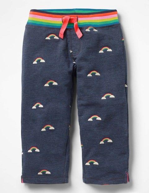 Fun Cropped Sweatpants Blue Girls Boden, Blue