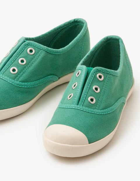 Laceless Canvas Shoes Jungle Green Girls Boden