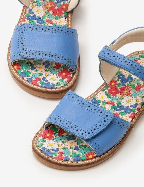 Sandales Matelassées En Cuir - Bleu Penzance