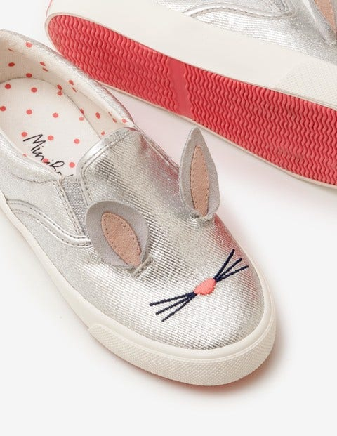 Novelty Canvas Shoes - Silver Metallic
