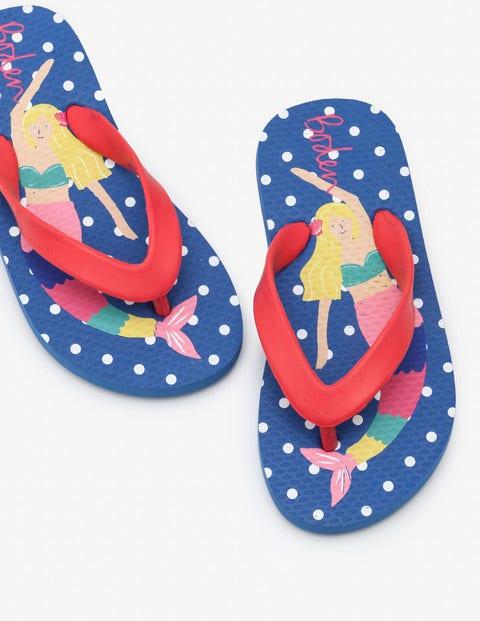 Printed Flip-Flops - Blue Mermaids